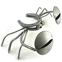 "Horseshoe Crab - Recycled Metal Outdoor Sculpture, 13"""