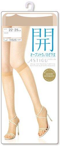 (アツギ)ATSUGI ASTIGU 【開】 オープントウ ひざ下丈 FS5000 22?25cm スキニーベージュ(357)