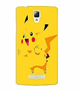 Case Cover Cartoon Printed Yellow Soft Back Cover For Lenovo A2010