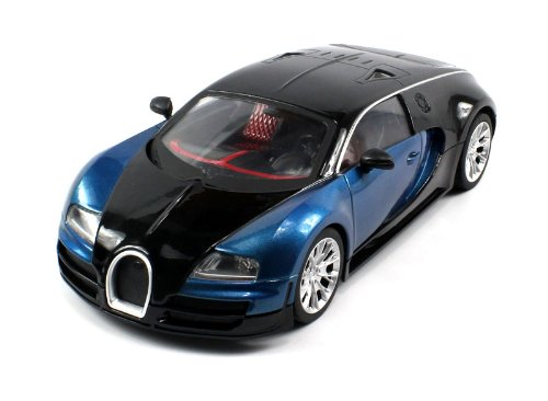 #1 Diecast Bugatti Veyron Super Sport Electric RC Car Metal 1:18 RTR (Colors May Vary) Full Metal, Durable Body