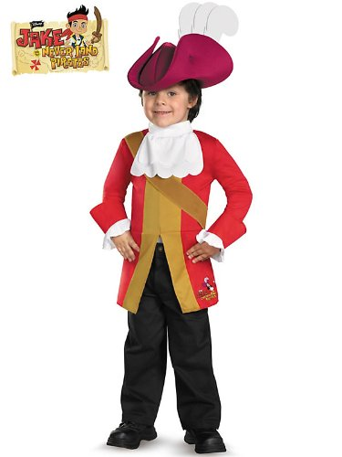 Disney Jake And The Neverland Pirates Captain Hook Toddler/Child Costume