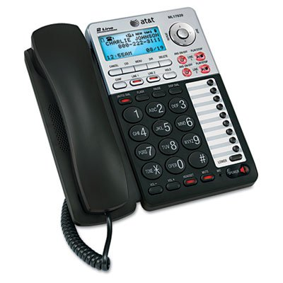 "At&T Ml17939 Two-Line Speakerphone With Caller Id And Digital Answering System ""Two Telephone Line Cords, Power Adapter And User Documentation"" Unit Of Measure: Ea, Manufacturer Part Number: Ml17939"