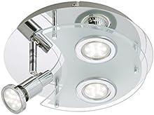 Briloner Leuchten lámpara de techo LED, 3 x 3 W, 250 lm, cromo 2228-038