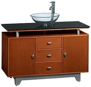 Amanda Sink Cabinet Raised Top Cherry Bathroom Sinks