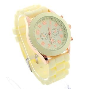 Daditong Popular Silicone Quartz Men Women Girl Boy Unisex Jelly Wrist Watch