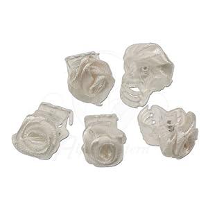 Alpenflüstern Braut-Haarklammern Röschen 5 Stück (weiß) - romantische Accessoires für die Braut zur Hochzeit