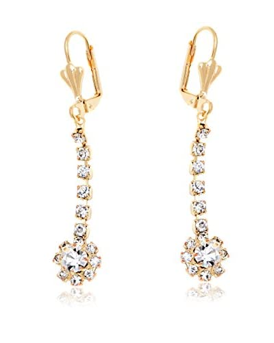 Sevil 18K Gold-Plated & Crystal Flower Earrings Made with Swarovski Elements
