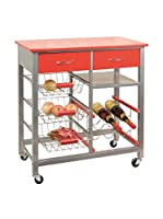 KITCHEN FURNITURE & DECO HOME Carrito Rojo