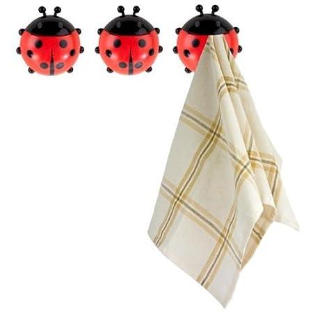 Balvi - 24806 Kitchen cloth hook Ladybird x3