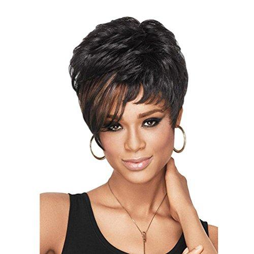 Meydlee Parrucche Lanuginoso naturale breve parrucca per le donne donne