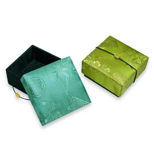 Trinket Box (large) - Silk Jacquard Picture