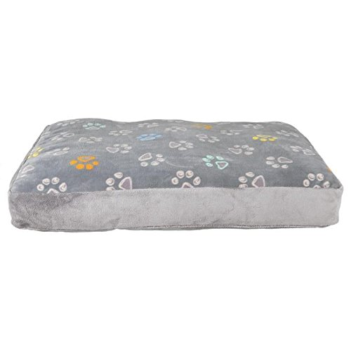 TRIXIE-TRIXIE-Cuscino per cane, Jimmy, colore: grigio chiaro, 60 x 40 cm