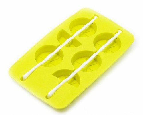 Henwa Silicone Lemon Shapes Freezer Ice Cube Tray Mold Maker, Yellow front-263337