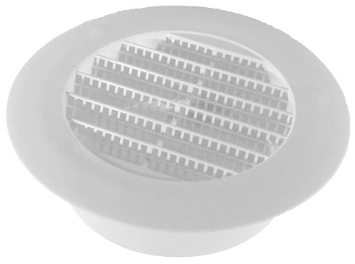 Speedi-Products 4-Inch Diameter Plastic White Round Soffit Vent(SM-RSV 4) (Soffit Vent Mesh compare prices)