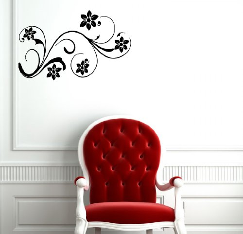 Housewares Vinyl Decal Lovely Flowers Floral Girly Design Home Wall Art Decor Removable Stylish Sticker Mural Unique Design For Any Room front-1011140
