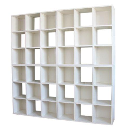 4x Modul-Regal Standregal M73, 186x186x30 cm ~ weiß bestellen