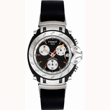 Tissot Men's T90449651 T-Sport T-Race Chronograph Black Rubber Watch
