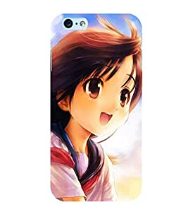 PICTURE OF A CUTE ANIMATED GIRL IN ASTONISHMENT 3D Hard Polycarbonate Designer Back Case Cover for Apple iPhone 5S