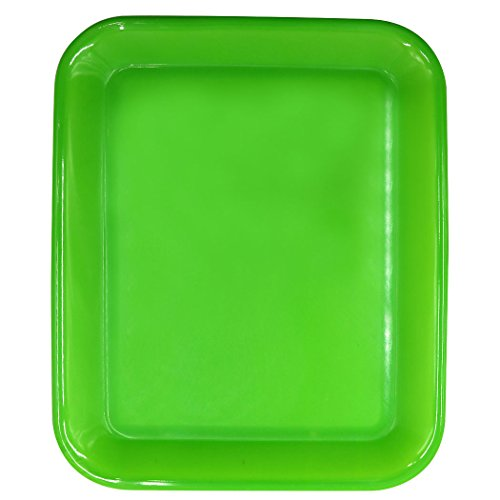 Teagas 13 Inch Green Rectangular Plastic Serving Trays (Cafeteria Tray Cart compare prices)