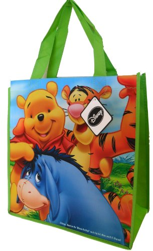 Lowest Prices! Disney Winnie the Pooh Tote Bag (with Tiger and Eeyore) – 13 X 14 X 6 Inches