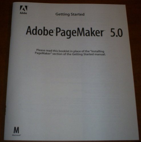 Getting Started with Adobe PageMaker 5.0 for Windows