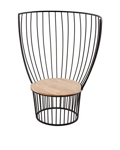Artistic Lighting Metal Carousel Chair, Bronze/Teak