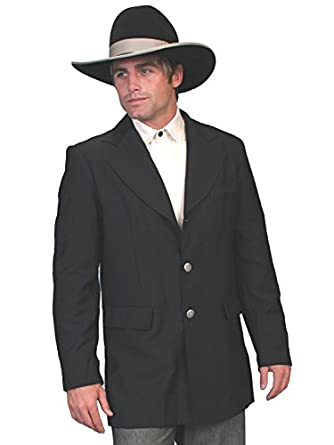 Steampunk Men's Coats Old West Coat - Black $149.90 AT vintagedancer.com