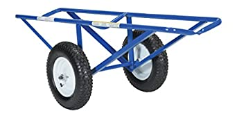 "Vestil CARPET-45 Portable Carpet Dolly with Fully Pneumatic Wheels, 500 lbs Capacity, 60"" Length x 26"" Width x 20"" Height, Platform Width (in.) 14-11/16."