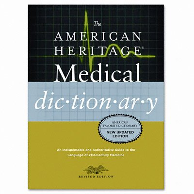 Houghton Mifflin H02074 American Heritage Stedman's Medical Dictionary- Hardcover- 944 Pages