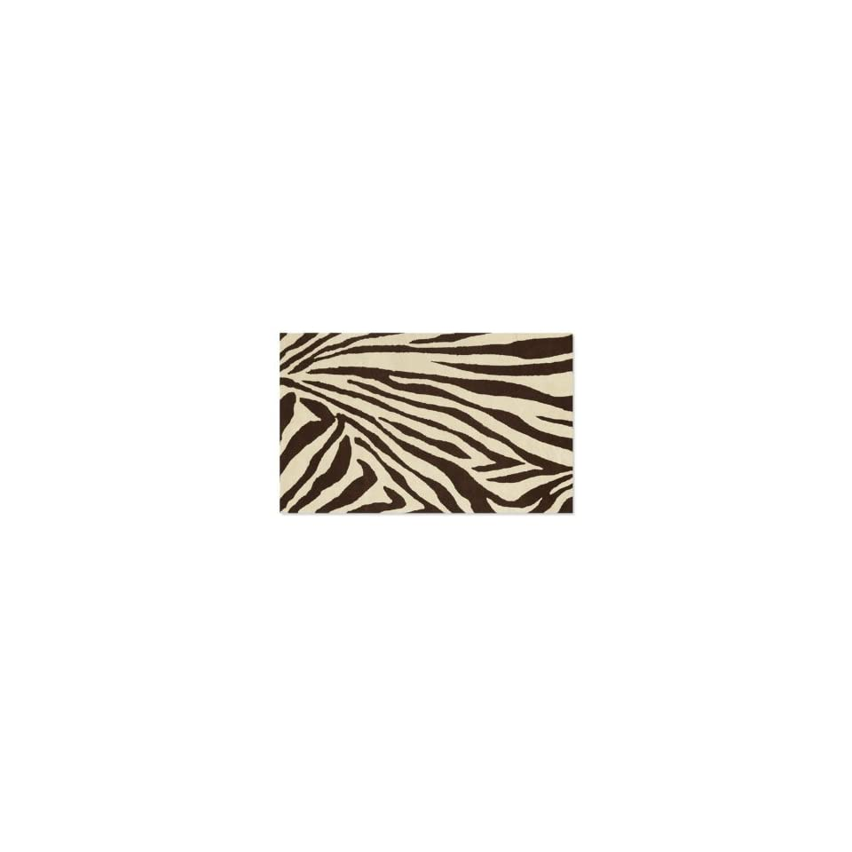 Brown And Cream Zebra Rug 5 X 8 Grandin Road On Popscreen