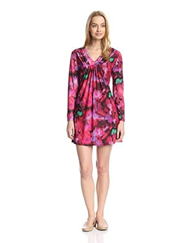 Aegean Apparel Women's Abstract Print Nightgown