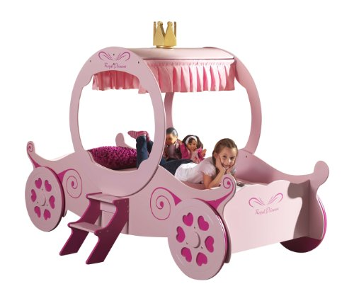 Vipack SCPC201 Princess Kate Car Lit Enfant MDF Rose 240 x 168 x 168 cm