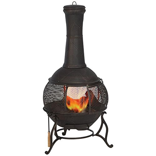 Hampton-Bay-Cast-Iron-Chiminea-with-Screen-and-Fire-Poker-Copper-Finish