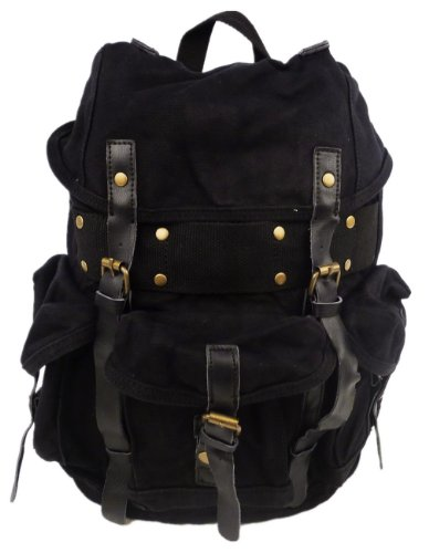 small-stylish-100-cotton-canvas-backpack-c02blk