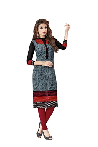 AMP IMPEX Ethnicwear Women's Dress Material Grey Free Size