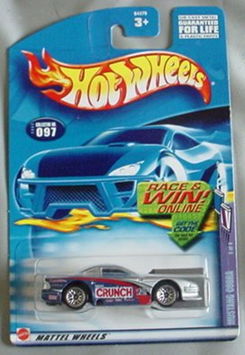 Hot Wheels 2002 Mustang Cobra Sweet Rides 3/4 #097 #97 SILVER Crunch 1:64 Scale - 1