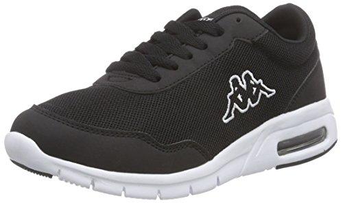 KappaMELO Footwear unisex, Mesh/Synthetic - Scarpe da Ginnastica Basse Unisex - Adulto , Nero (Nero (1110 nero/bianco)), 38