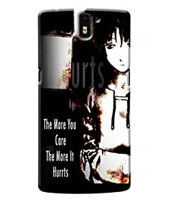Fuson Sad Girl Back Case Cover for ONEPLUS ONE - D4068