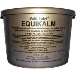 Gold Label Equikalm 750G - Non-Sedating Herbal Horse Supplement That Has A Mild Effect On The Central Nervous System