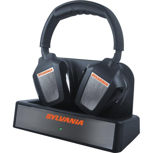 Wireless bluetooth headphones for tv - Sylvania Wireless (Black) Overview