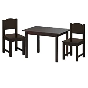 Ikea Sundvik Children 39 S Table And 2 Chairs Set Black Brown