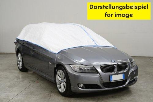 Halbe-Autoabdeckung - Mini car cover-VOLKSWAGEN VW GOLF CABRIO ab 2011 in weiß Exclusiv aus Tyvek incl. Lagerbeutel