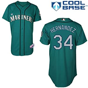 Felix Hernandez Seattle Mariners Alternate Green Authentic Cool Base Jersey by... by Majestic