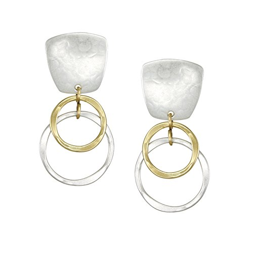 Marjorie Baer Clip Earring with Layered Ring Drop …