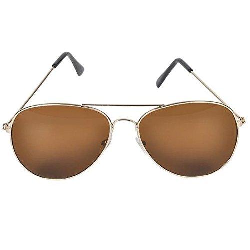 [AimTrend Sunglasses Dark Aviator-Amber] (Google Glass Costume)