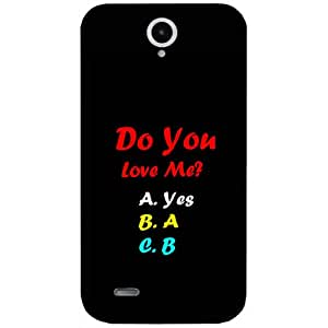 Casotec Funny Quotes Design Hard Back Case Cover for Lenovo A850