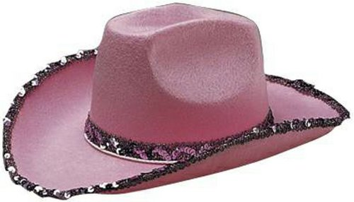 Pink Fancy Cowgirl Costume Hat for Women