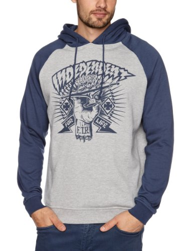 Independent Ripped Hood Men's Sweatshirt Denim X Small