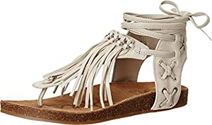 Sam Edelman Women's Kyra Flat Sandal, Greige, 9 M US