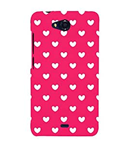 Attractive Love Design 3D Hard Polycarbonate Designer Back Case Cover for Micromax Canvas Play Q355